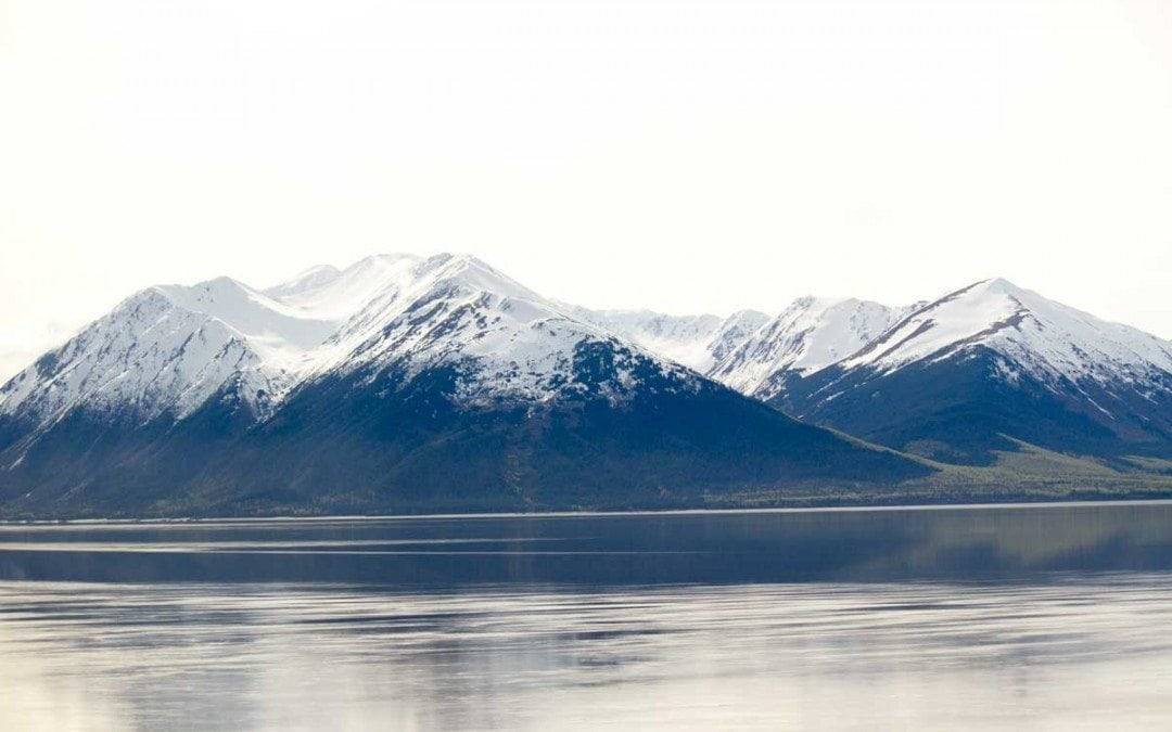 Mountains along the turnagain arm in Alaska